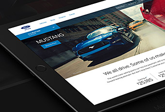 Ford.com Vehicle Homepage Redesign